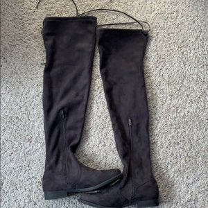Liliana Vista-1 Faux Suede Thigh High Boot Size 10
